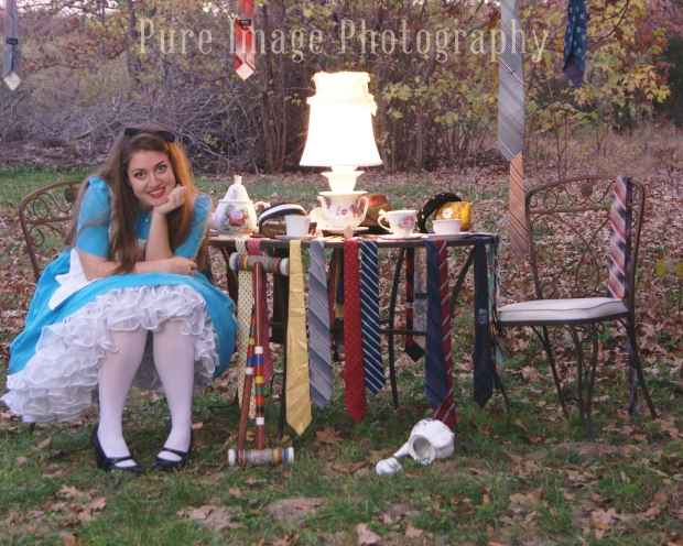 Alice in Wonderland Nightime Photo Shoot