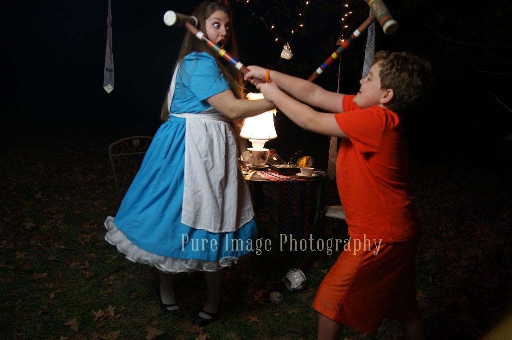 Alice in Wonderland Nightime Photo Shoot
