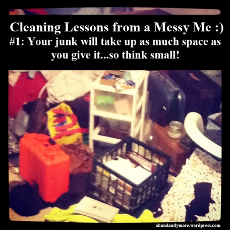 Cleaning Lessons from a Messy Me :)