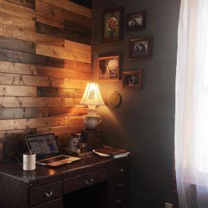 Cozy rustic corner